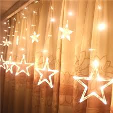 Fairy Light Bedroom Led Stars Lights Flashing String Starry Curtains Hanging