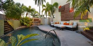 Metal Wall Decor For Outdoors Pool Contemporary With Tile Walls Outdoor Dining Furnit