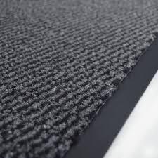 paillasson a la coupe tapis entrée accueil anti salissures à la coupe anthracite
