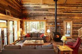 Rustic Cabin Style Decorate Living Room End