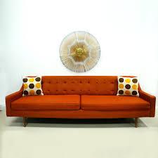 furniture modern decorative settee for living room mcm orange