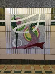 tile mosaic at newport path station in jersey city jerseycity