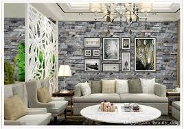 großhandel stereoscopic faux stein ziegelstein wand tapete 3d für wände 3 d wohnzimmer fernsehhintergrund vinyltapete papier peint wandbild 3d