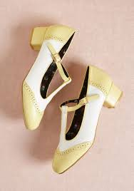 Anywhere You Tango T Strap Heel In Yellow
