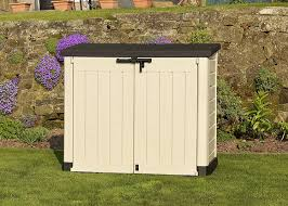 Plastic Storage Sheds At Menards by Keter Store It Out Max Resin Outdoor Garden Storage Shed Beige
