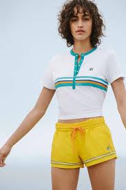 FILA X Urban Outfitters Carole Henley Top Tina Logo Short