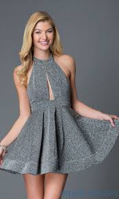 shop short glitter fit and flare holiday party dresses at