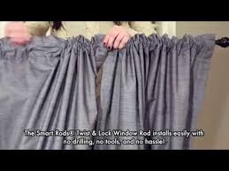 Twist And Fit Curtain Rod Target by Twist And Lock Window Rod Video Youtube