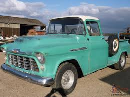 1956 Chevrolet Stepside Pickup Truck Runs Drives Original Or V8 ...