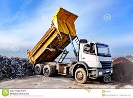Dump Truck Stock Image. Image Of Construction, Park, Excavation ...