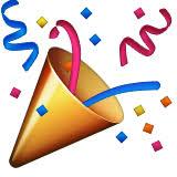 Party Popper Emoji Apple iOS Version