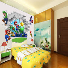 3D View Super Mario Games Art Kids Room Decor Wall Sticker Decals Mural WS In Stickers From Home Garden On Aliexpress