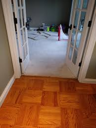 replacing carpet with hardwood but next to existing hardwood and tile