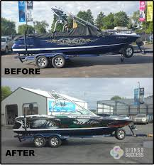 Master Craft Custom Boat Wrap Priest Lake - Signs For Success