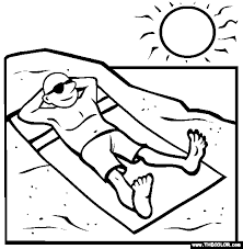 Beach Online Coloring Pages