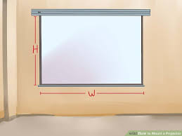 Drop Ceiling Mount Projector Screen by How To Mount A Projector 14 Steps With Pictures Wikihow