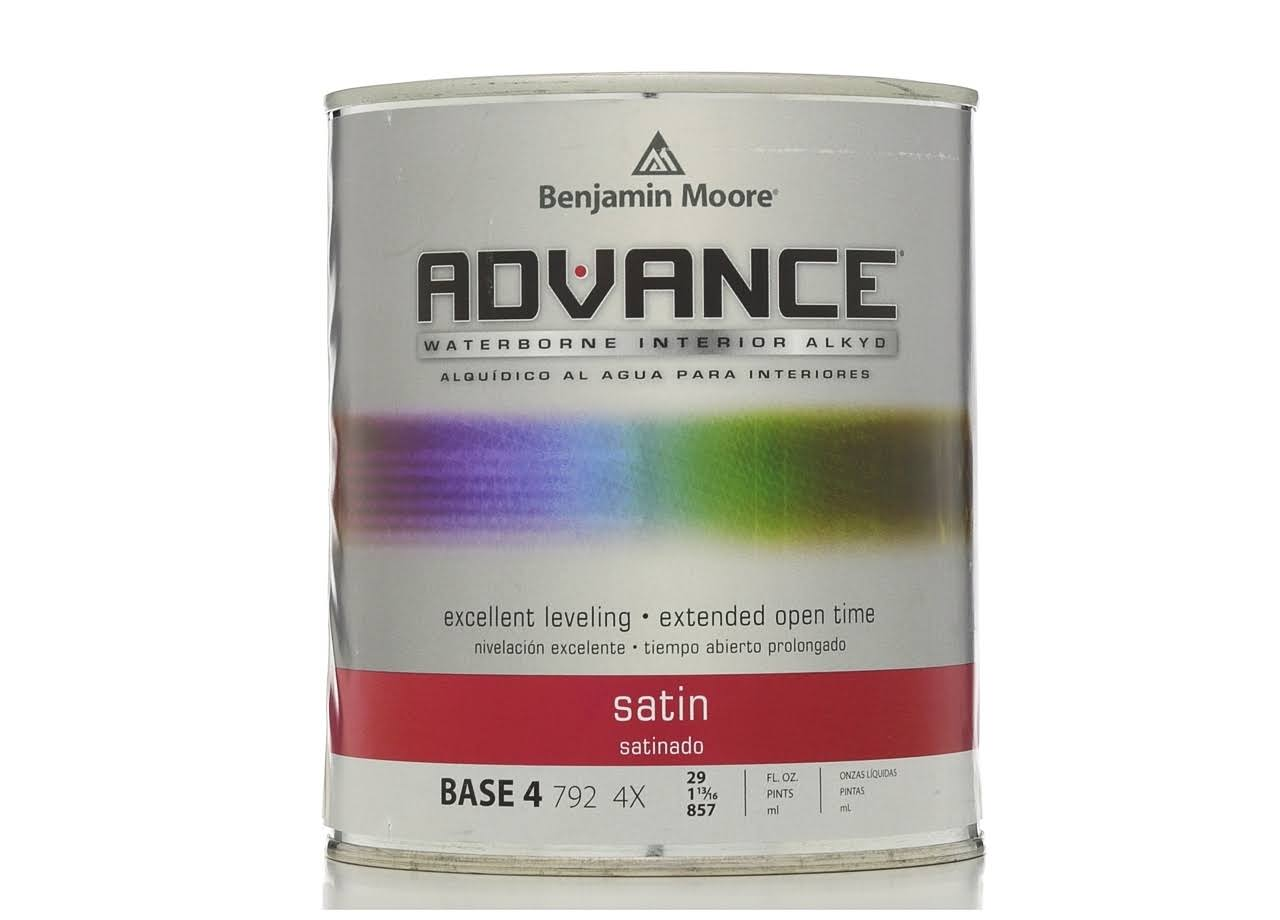 Benjamin Moore Advance Paint, Satin, Base 4 - 29 fl oz can