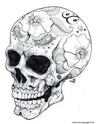 Real Sugar Skull Precision Hard Coloring Pages Printable Book Print Free Find Kids Adults Day Of