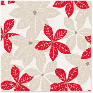 Eclectic Poinsettia Christmas Wrapping Paper Roll, 45 Sq. ft.