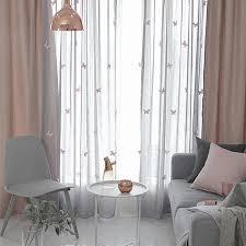 3d stereo schmetterling tüll vorhänge für wohnzimmer rosa schmetterling garn fenster vorhänge für kinderzimmer weiß grau voile wp434 gi