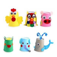 Paper Cup Animal Crafts 9 More