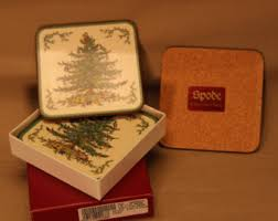 Spode Christmas Tree Mug And Coaster Set by Spode Christmas Tree Etsy