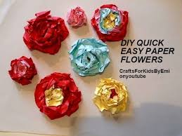 Quick Easy Paper Flowers To Make Free Tutorial With Pictures On How