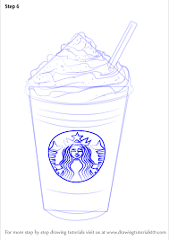 Learn How To Draw Frappuccino Special Dishes Step By