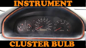 toyota instrument cluster bulb replacement
