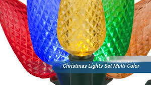 Ceramic Christmas Tree Bulbs Amazon by Christmas Lights Set Multi Color Youtube