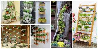 Ideas Which Materials To Use Make A Vertical Garden Making Succulent Tower Large Size