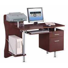 Techni Mobili Computer Desk With Side Cabinet by Techni Mobili Computer Desk With Storage Chocolate Walmart Com