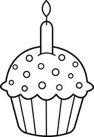 Drawn cupcake candle outline 5