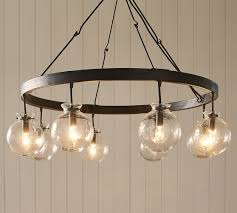 Pottery Barn Kitchen Ceiling Lights by Barrett Glass Globe Chandelier Pottery Barn Dining Room