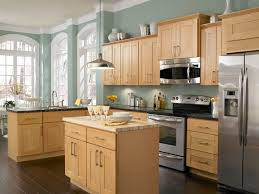 best light wood cabinets for kitchen with refrigerator 8876
