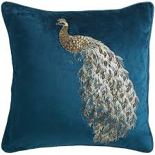 Pier 1 Outdoor Cushions Canada by Midnight Velvet Beaded Peacock Pillow Pier 1 Imports