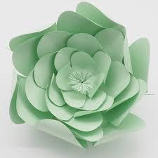1 Piece 25CM Cartstock Customized Light Green Giant Paper Flower For Wedding Backdrops Window Display Kids