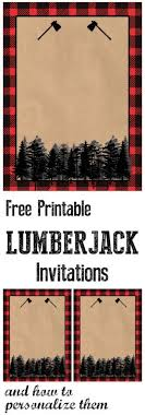 Lumberjack Invitation Free Printable Baby BirthdayWinter