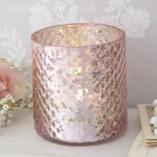Lustre Tea Light Holders Pink