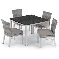 Shop Oxford Garden Travira 5-piece 39-inch Lite-Core Dining Table ... Teak Hardwood Ash Wicker Ding Side Chair 2pk Naples Beautiful Room Table Wglass Model N24 By Rattan Kitchen Youtube Pacific Rectangular Outdoor Patio With 6 Armless 56 Indoor Set Looks Like 30 Ikea Fniture Sicillian 8 Seater Square Stone And Chairs In Half 100 Handmade Tablein Garden Sets Burridge 4ft Round In Antique White Oak World New Ideas Awesome Unique Black