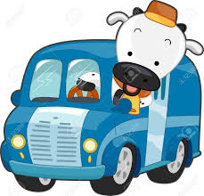 100 Cow Truck Illustration Of A Happy Driving A Milk Delivery Stock