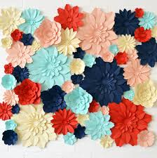 Handmade Five Colour Paper Flower Square Backdrop By May Contain Glitter