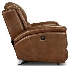 Bernhardt Foster Leather Furniture by Griffin Power Recliner Brown Levin Furniture