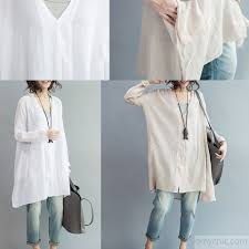 long sleeve cozy cotton dress oversize tunic cotton shirts plus size cotton tops5 jpg