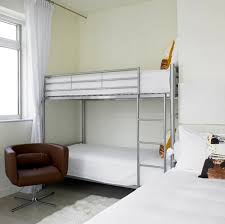 Simple And Neat Teen White Bedroom Decoration Using Silver