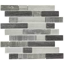 shop elida ceramica wood reflections linear mosaic glass wall tile