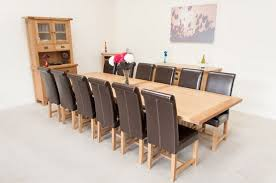 12 Seat Country Oak Dining Table