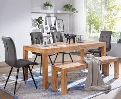 finebuy esszimmer sitzbank massiv holz akazie holz bank natur produkt küchenbank im landhaus stil größe wählbar