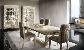 luxus wohnzimmer esszimmer sipario in beige hochglanz