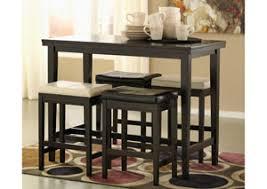 Kimonte Rectangular Counter Height Table W 2 Ivory Dark Brown Barstools